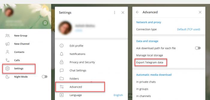 backup Telegram Data